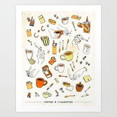 Coffee & Cigarettes Art Print