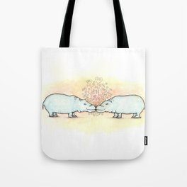 Hippo Love Tote Bag