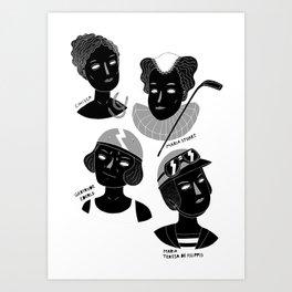 Women in Sports I Art Print