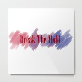 Break The Mold - Bi Pride Metal Print