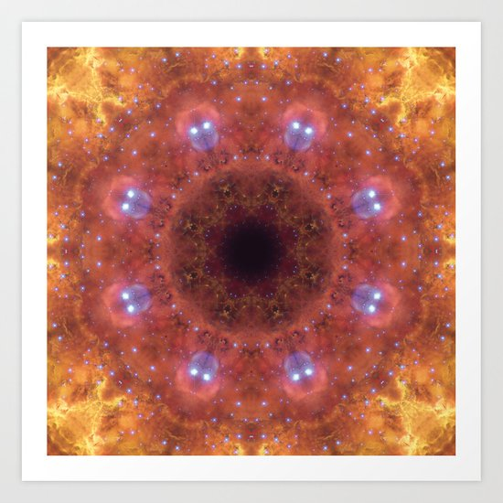 Space Mandala No14 Art Print
