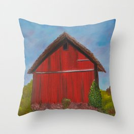 Shelter for the herd Throw Pillow