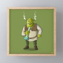 Ogre Smoking Framed Mini Art Print