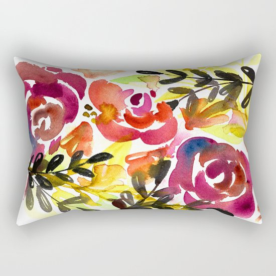 Violet Roses Rectangular Pillow