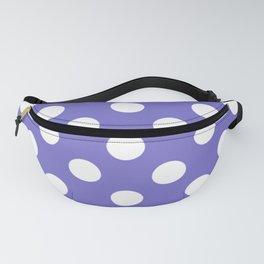 Violet-blue (Crayola) - violet - White Polka Dots - Pois Pattern Fanny Pack