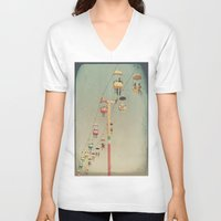 1975 V-neck T-shirts featuring 1975 Ride by Maite Pons