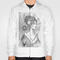 Elegant Oriental Japanese Geisha by Ashley Rose Standish Hoody