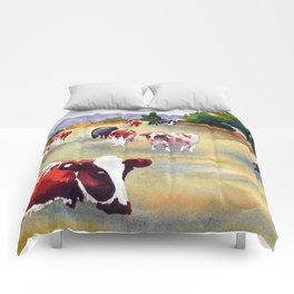 Cows in Pasture Comforters