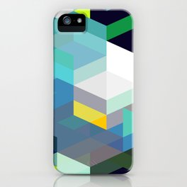 Blue Diamonds iPhone Case