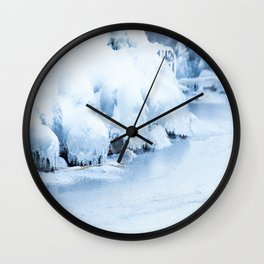 Winter scene #decor #buyart #society6 Wall Clock