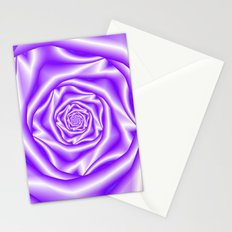 Lilac Rose Spiral Stationery Cards