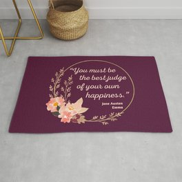 Emma By Jane Austen Quote I - Cute Style Rug
