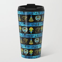 Egyptian  Ornament Symbols Pattern Travel Mug