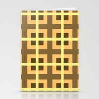 yellow pattern Stationery Cards featuring Pattern Yellow by BobbyK