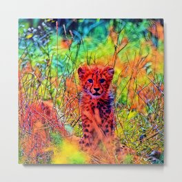 AnimalColor_Cheetah_007_by_JAMColors Metal Print
