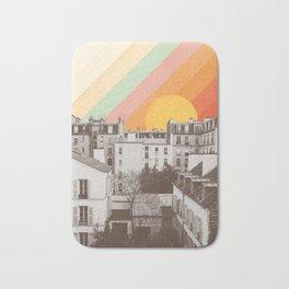 Rainbow Sky Above Paris Bath Mat