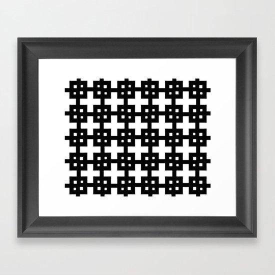 Telder Black & White Framed Art Print