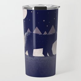Moon Bear - Geometric, bear shirt, stars, mountains, animal t shirt, animal print t shirt, wildlife Travel Mug