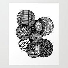 Sharpie Circles Art Print