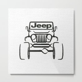 Jeep only Metal Print
