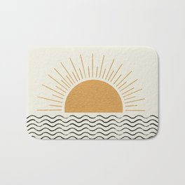 Sunrise Ocean -  Mid Century Modern Style Bath Mat