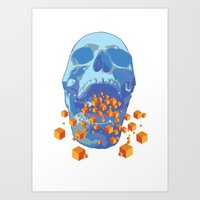 psychology Art Prints featuring Reverse Psychology  by Rhysher Park