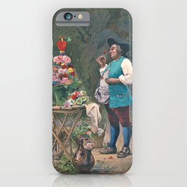 Jehan Georges Vibert - The contented gardener - Digital Remastered Edition iPhone Case