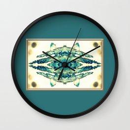 blue grass mosaic Wall Clock