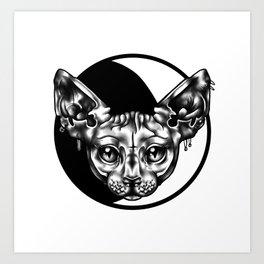 moon sphynx Art Print