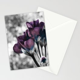 Pop of Color Flowers Muted Eggplant Teal Stationery Cards