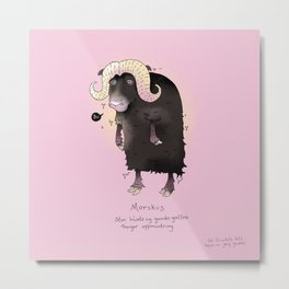 Triste dyr: Morskus Metal Print