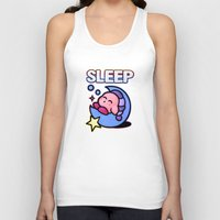 kirby Tank Tops featuring Kirby Sleep by likelikes
