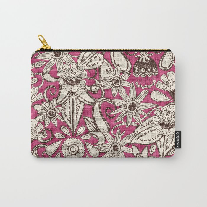 sarilmak pink brown Carry-All Pouch