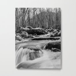 Water Flowing in the Smoky Mountains Metal Print