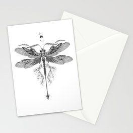 Dragon Fly Tattoo Black and White Stationery Cards