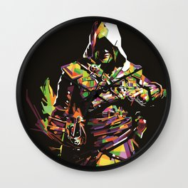 Assassin's Creed In Anomali WPAP Wall Clock