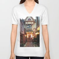 maine V-neck T-shirts featuring Maine by Christina Hand