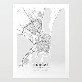 Burgas Bulgaria Art Print