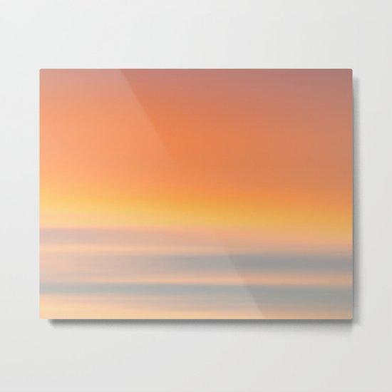 Wind Brush Sunset Metal Print