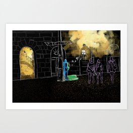 Night Jazz Art Print