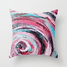 Spiral honeymoon Throw Pillow