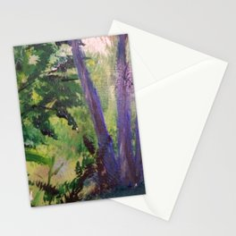 Purple Palms Stationery Cards