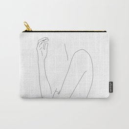 Figure line drawing illustration - Dorit Carry-All Pouch