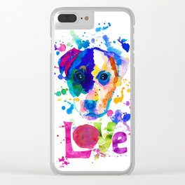 Doggy - love Clear iPhone Case