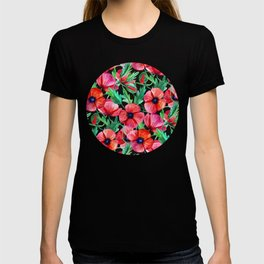 Plenty of Poppies - black T-shirt