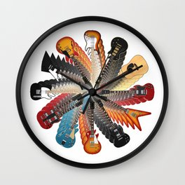 Guitar Spiral Wall Clock