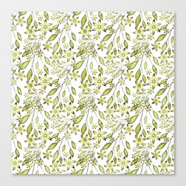 delicate floral pattern. Canvas Print