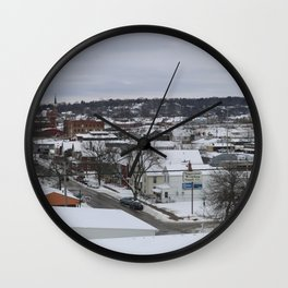 Winter in Dubuque Wall Clock