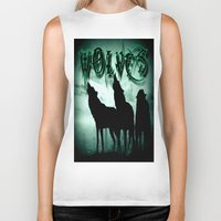wolves Biker Tanks featuring WolveS by shannon's art space