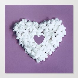 Purple You are in my heart Canvas Print